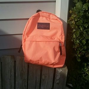 Jansport Handbags - Jansport peach super break backpack