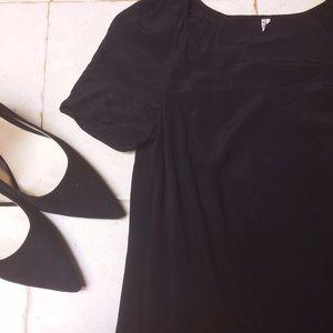 IRO Silk Drop Waist Cap Sleeve Dress