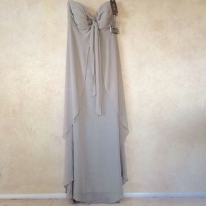 Jenny Yoo Gray Strapless Gown Size 10
