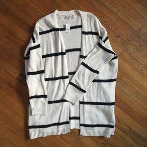 Loft White/Navy stripe Cardigan