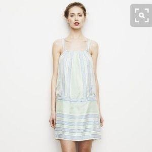 Lauren Moffatt Daylily Drop Waist Tie Dress