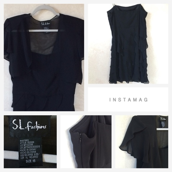 S l fashions black dress 2017