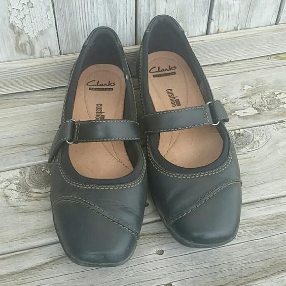 Clarks collection soft cushion black shoe