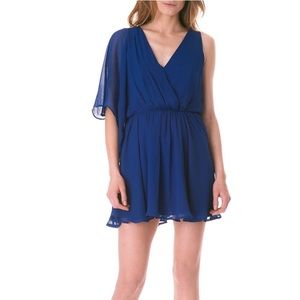 Sam Edelman Blue One-Strap Flirty Mini Dress