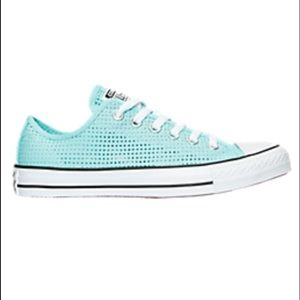 New converse perforated canvas