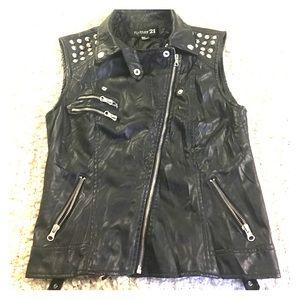 Forever 21 Jackets & Blazers - Forever21 Black Faux Leather Studded Vest