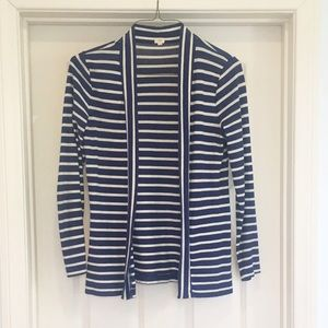 J. Crew Navy Striped Sweater