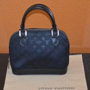 AUTHENTIC Louis Vuitton Mini Alma Monogram Satin