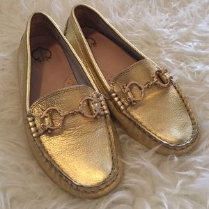 Tory Burch Shoes - C Wonder Metallic Gold Loafers