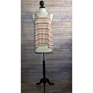 Free People Tops - Free People Loose Knit Striped Sweater Tank Top