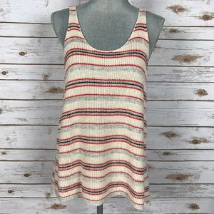 Free People Tops - {Free People} Loose Knit Striped Sweater Tank Top