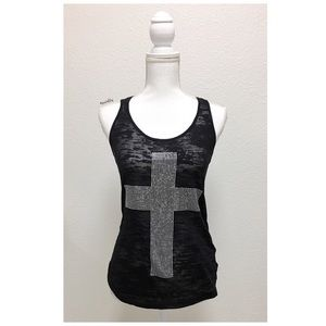 Forever 21 Tops - F21 jeweled cross tank