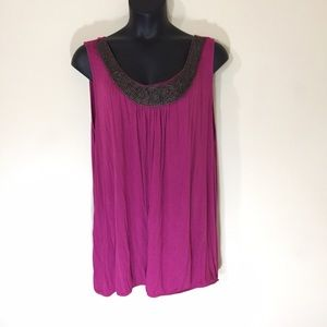 Just My Size Tops - Just My Size Purple Tank Top Size 4X