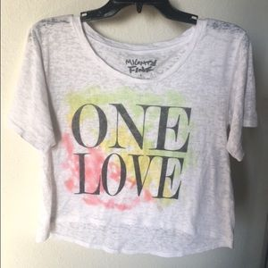 Mighty Fine Tops - One Love Crop Top