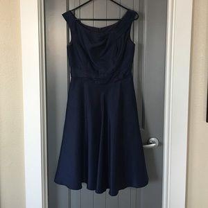 David's Bridal Dresses & Skirts - David's Bridal Navy Midi Dress