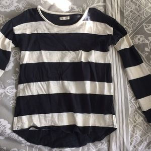 Madewell Navy and White Striped Longsleeve