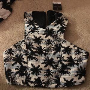 Topshop palm tree shirt/Halter Top