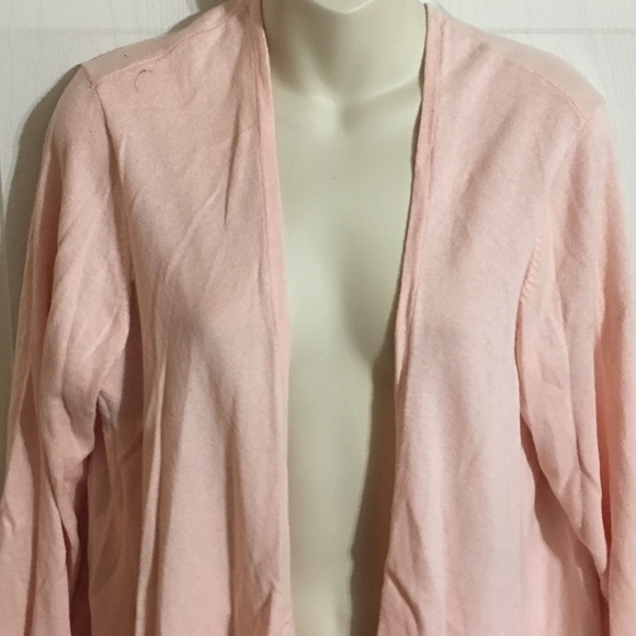 torrid - Torrid Peach Open Front Waterfall Cardigan from Jessica's ...