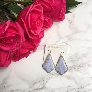 Kendra Scott Jewelry - 🆕Kendra Scott Alexandra Blue Lace Agate Earrings