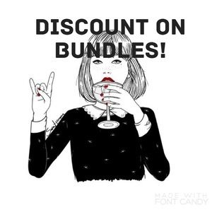 10%-15% bundle discount!💕