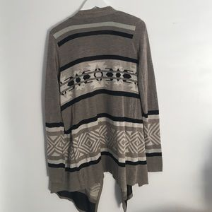 Sweaters - Gorgeous Tan and Black Draper Cardigan