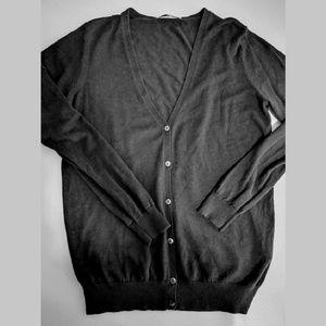 Black Uniqlo V-neck Cardigan
