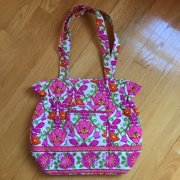 be77690729d2 Vera Bradley Laura Tote in Lilli Bell. M 587c002856b2d65921022288. Other  Bags ...