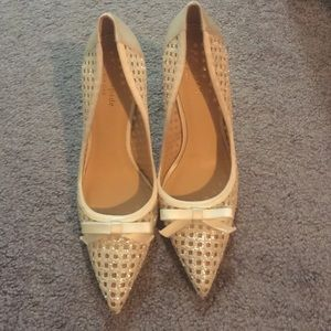 Kate spade glitter ivory pumps size 9 worn once