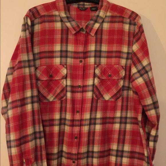 77 off eddie bauer tops eddie bauer flannel shirt xxl