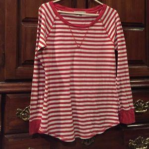 GAP red white stripe top size XS