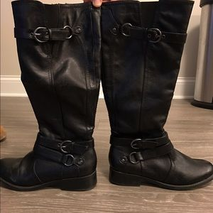 Never been worn black boots