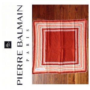 Pierre Balmain Accessories - Vintage Balmain geometric Silk scarf hand rolled