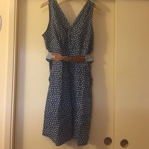 Dresses & Skirts - Blue with white polka dot dress