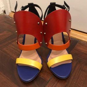 NWOT L.A.M.B. Multicolor Heels