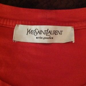 Yves Saint Laurent Tops - Yves Saint Laurent Logo T-Shirt