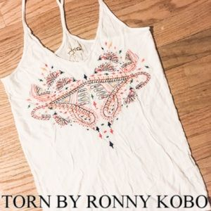 Torn by Ronnie Kobo sleeveless tank top