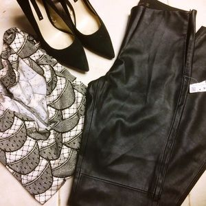 NWT Zara Faux Leather Pants