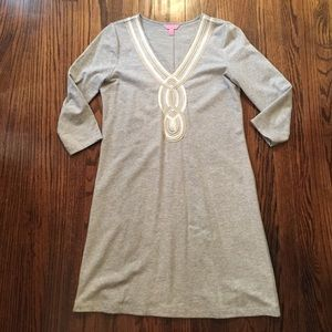 Grey Lilly Pulitzer Cotton Dress Medium