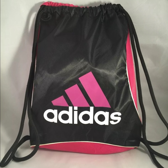 59c095332d Adidas Handbags - Adidas Drawstring Backpack Pink Black Sling Bag