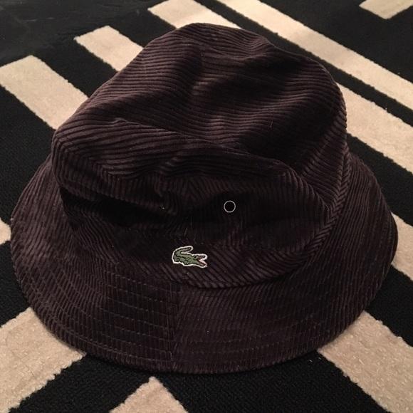 Lacoste Accessories - Lacoste Brown Corduroy Hat 80bc5a93c6a