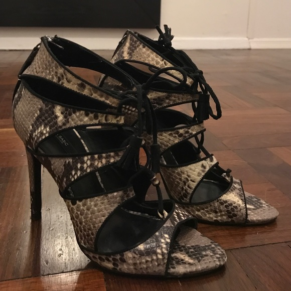 811eb492c76 Zara lace up snakeskin heels