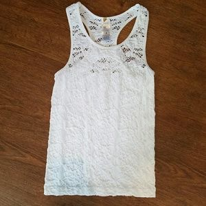 Tops - *SOLD*White lacey tank