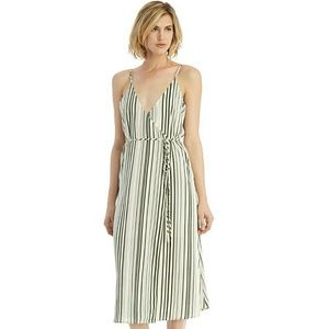 J.O.A striped wrap dress