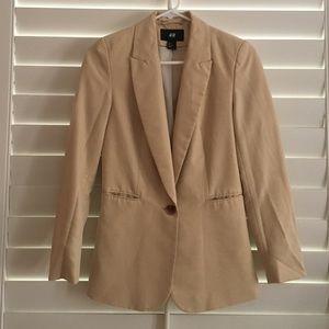 H&M tan classic blazer