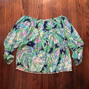 Lilly Pulitzer Blouse Size Medium