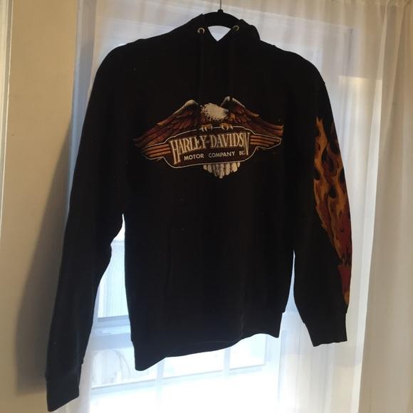 harley-davidson - vintage harley davidson ted phelps hoodie from