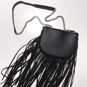 Aldo Black Fringe Cross-Body