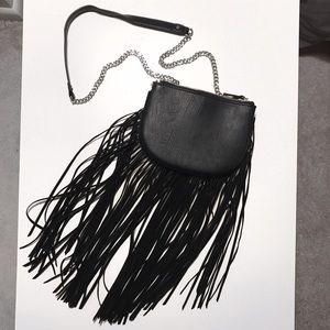 Aldo Bags - Aldo Black Fringe Cross-Body