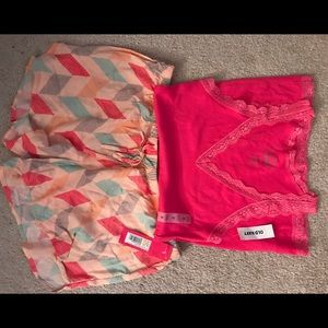 Other - BNWT Pajama Shorts and Tank set