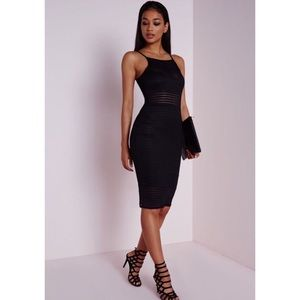 Missguided mesh midi dress